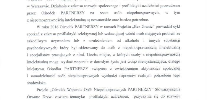Rekomendacja – Gdańskie Centrum Profilaktyki Uzależnień