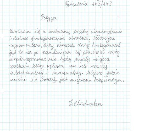 Rekomendacja – Pani Zofia Płochocka