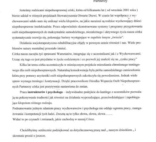 Rekomendacje – Państwo Smolińscy