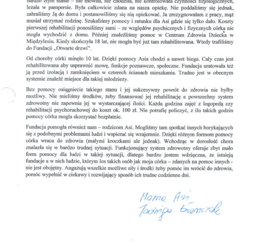 Rekomendacja – Pani Jadwiga Błaszczak