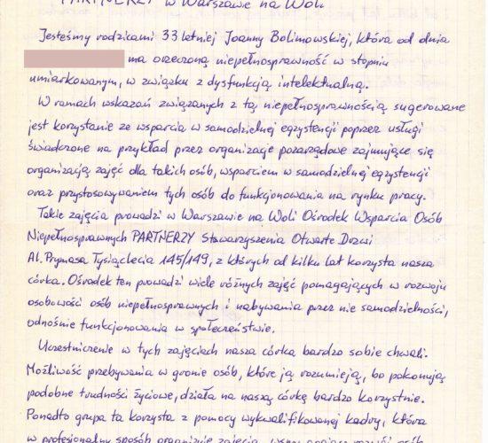 Rekomendacje – Państwo Bolimowscy