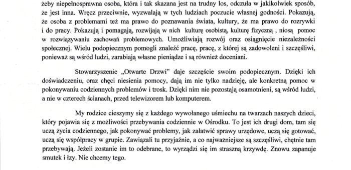 Rekomendacja – Pani Teresa Kossakowska