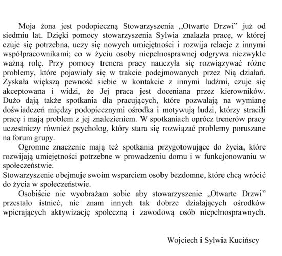 Rekomendacje – Państwo Kucińscy